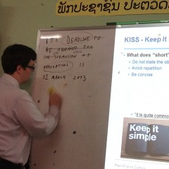 Learning the Finer Points of Legal Writing in Laos