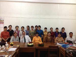 Meeting with the Yangon University Law Department Team_Bruce
