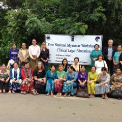 Myanmar Inaugural Clinical Legal Education Workshop