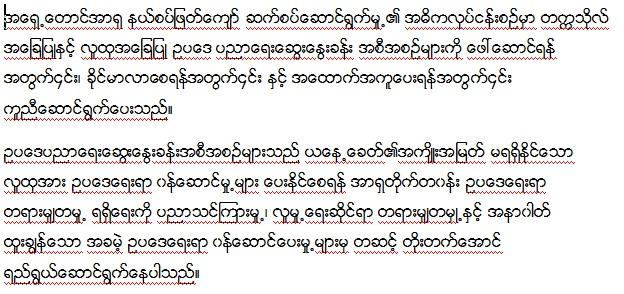 CLE Mission_Myanmar Translation