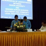 09. MOU signing between Dagon University Myanmar and BABSE CLE_29-08-2014
