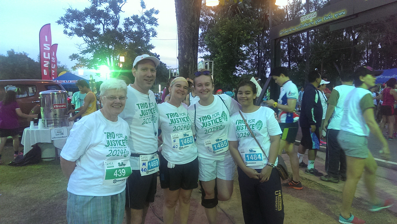 Actively Advertising the BABSEA CLE Access to Justice Weekend at the  Sukhothai Marathon