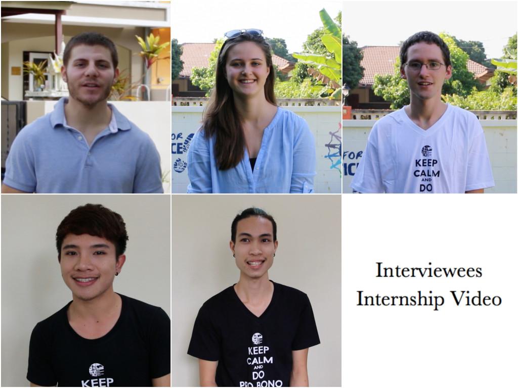 Interviewees Internship Video
