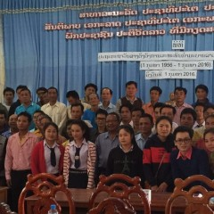 CLE Training to the Village Leader in Luangnamtha and Oudomxay Province