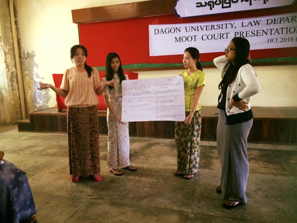 Law Students Presenting about what they have discussed