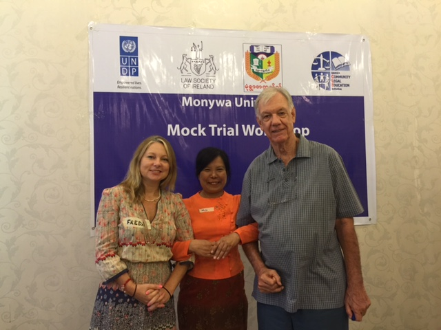 Tim me and lovely prof_Dr Khin Nwe Aye (Professor Head ) from Monywa University