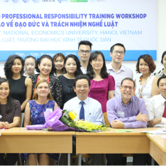 The National Economic University (Vietnam) hosts a Legal Ethics and Professional Responsibility Workshop