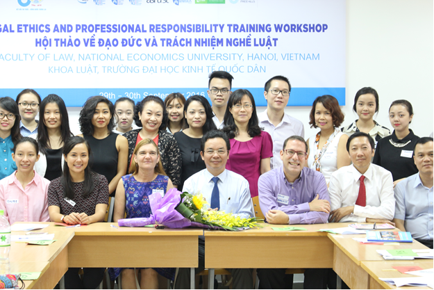 The National Economic University (Vietnam) hosts a Legal Ethics and Professional Responsibility Workshop